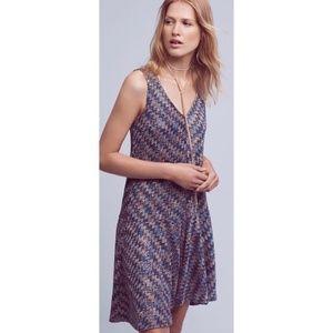 Anthropologie Maeve Chevron Knit Sleeveless Dress